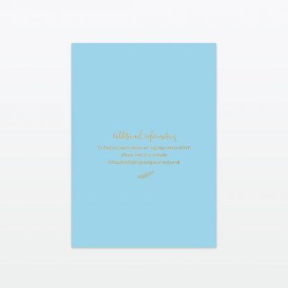 dreamcatcher wedding invitation single card back min