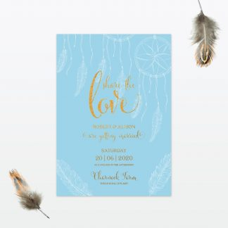 dreamcatcher wedding invitation single card min
