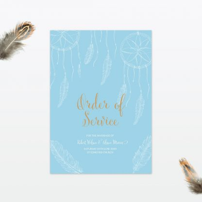 dreamcatcher wedding order of service cover min 1