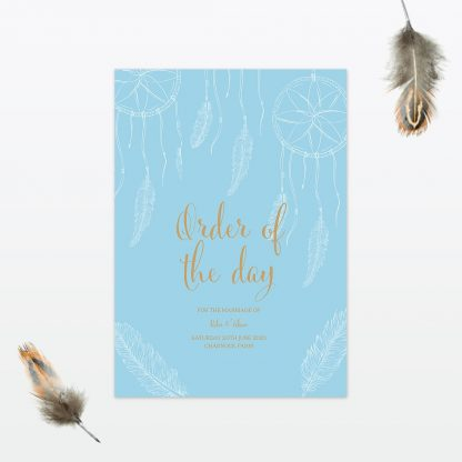 dreamcatcher wedding order of the day min