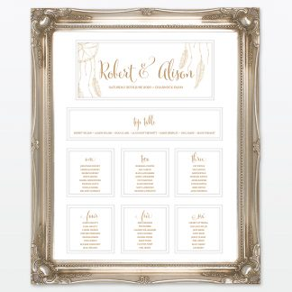 dreamcatcher wedding table plan mounted