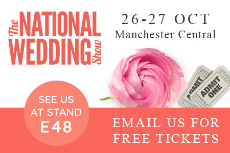 Email us for Free Tickets to the National Wedding show in October!