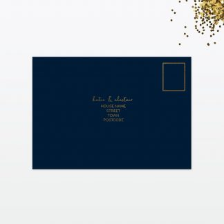 Confetti wedding rsvp card back