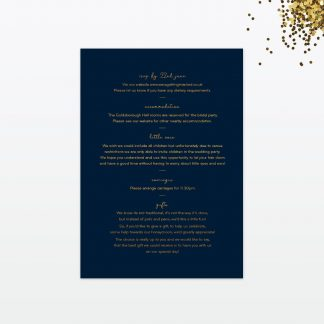 confetti wedding guest information card