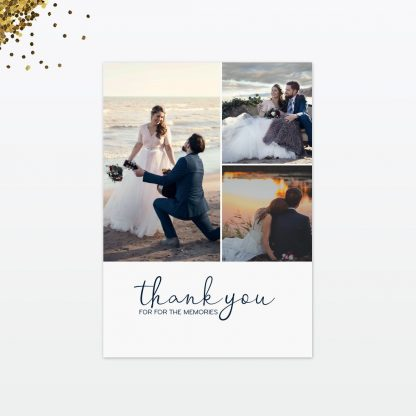 confetti wedding thank you card front
