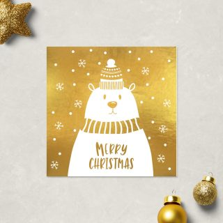 Gold Foil Christmas Card Design
