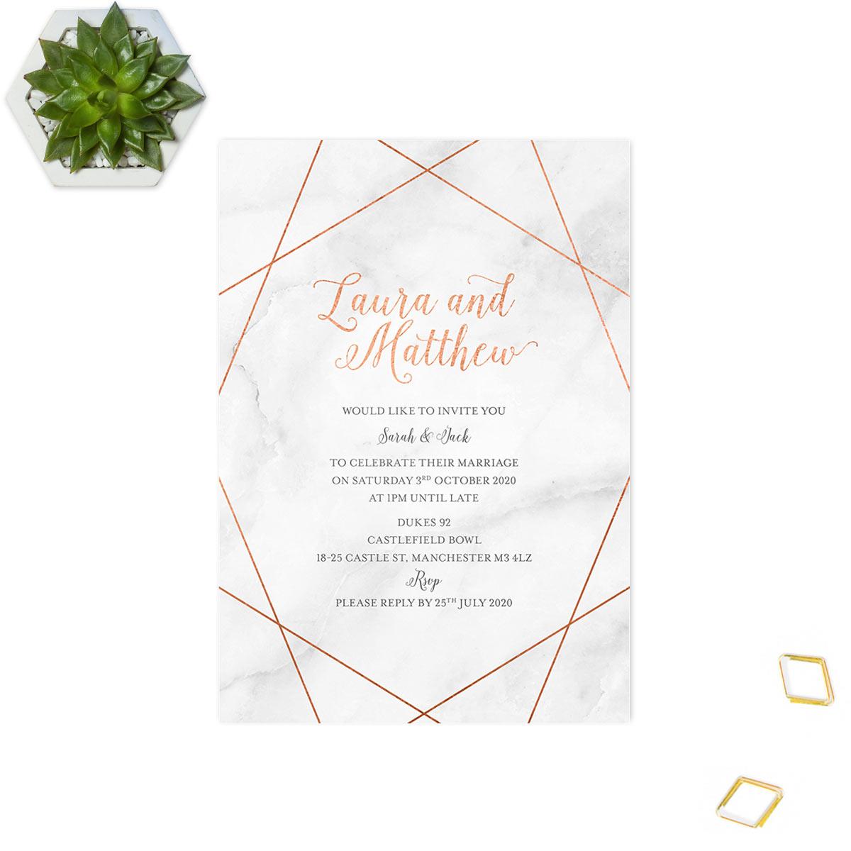 geometric wedding invite