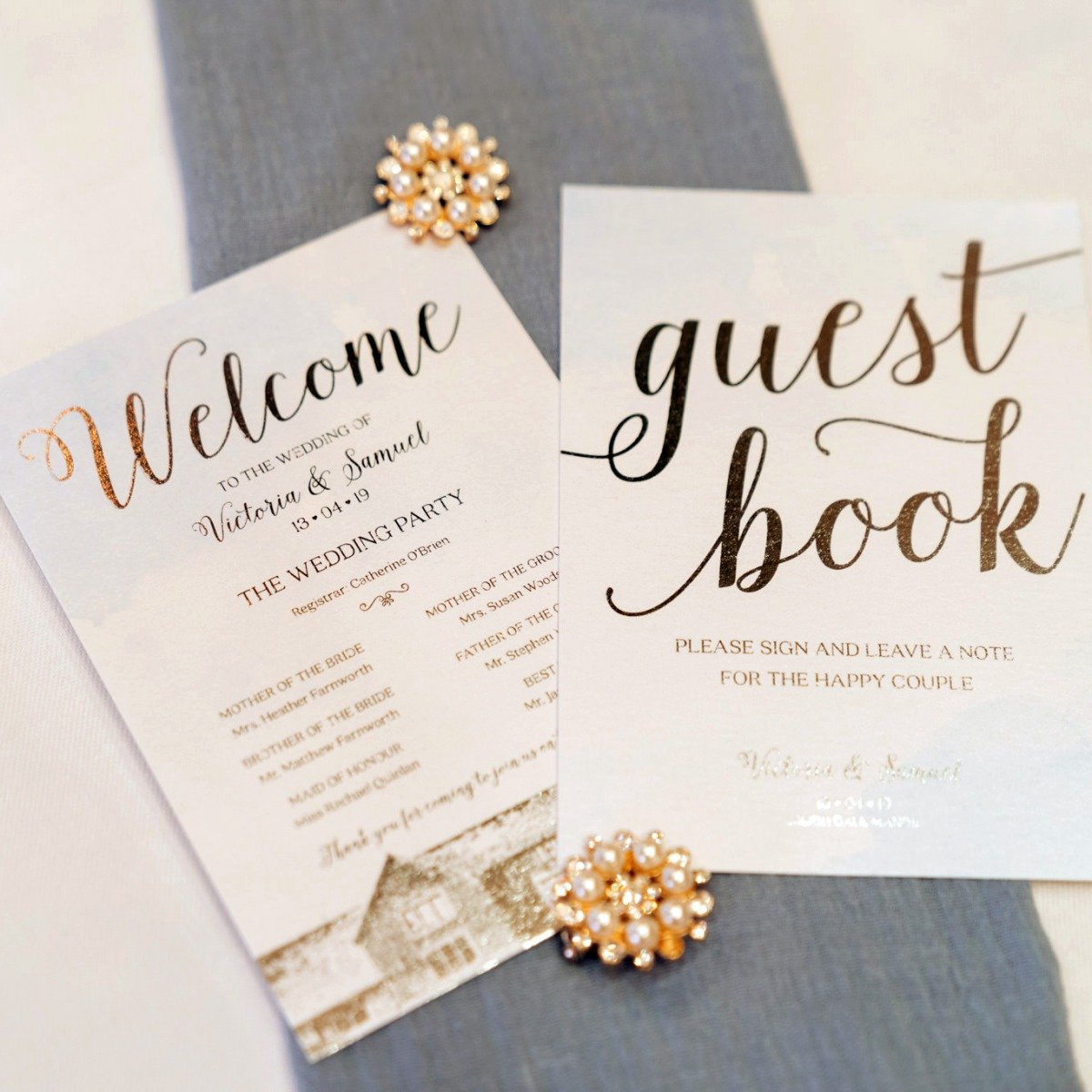 guestbook and welcome